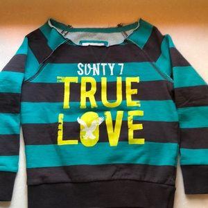 77kids American Eagle striped sweatshirt Size 7/8